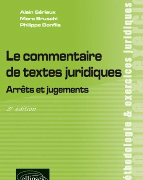 Exemple De Commentaire De Texte Juridique Corrigé ...