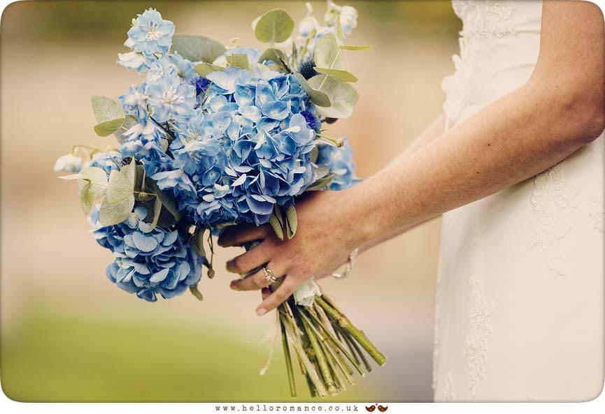 Bridal Bouquet Vintage Blue - Hadleigh Wedding Photography Suffolk- Hello Romance