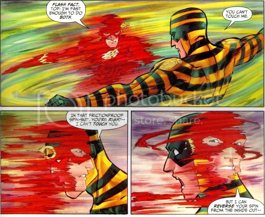 from The Flash: Dastardly Death of the Rogues, by Geoff Johns and Francis Manapul