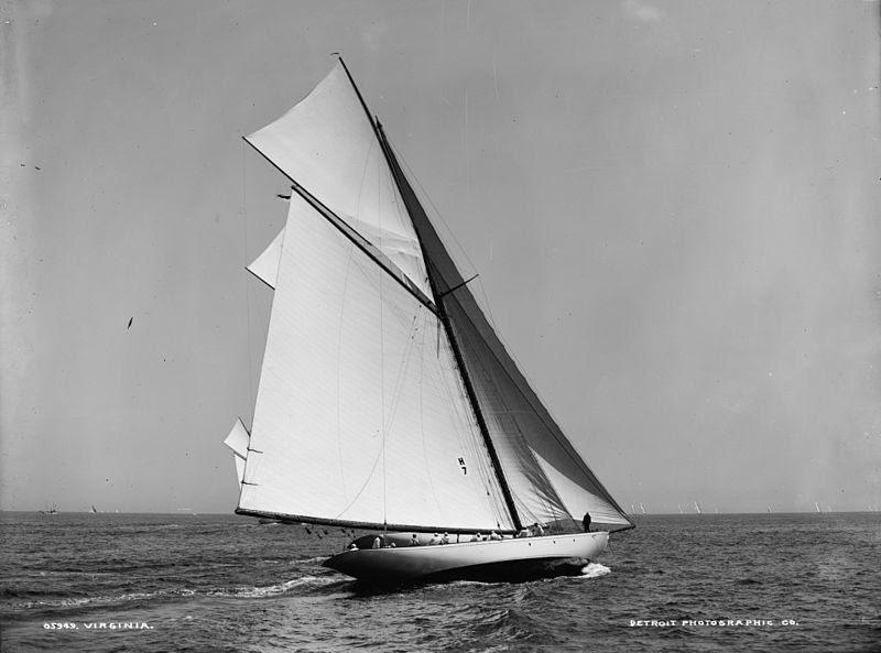"""Herreshoff New York 70 """"Virginia"""" - Classic Sailboats"""