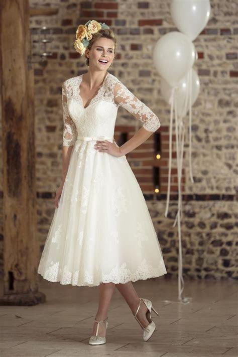 Tea Length Wedding Dresses 50's Short Wedding Dress