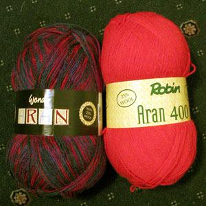 "Aran ""wool"" yarn"