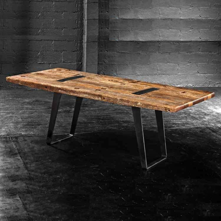 "Industrial Reclaimed Wood Dining Table 85"" - Zin Home ..."