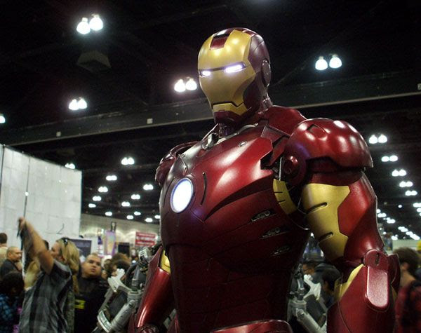An IRON MAN maquette on display at Stan Lee's Comikaze Expo in downtown Los Angeles, on November 2, 2013.