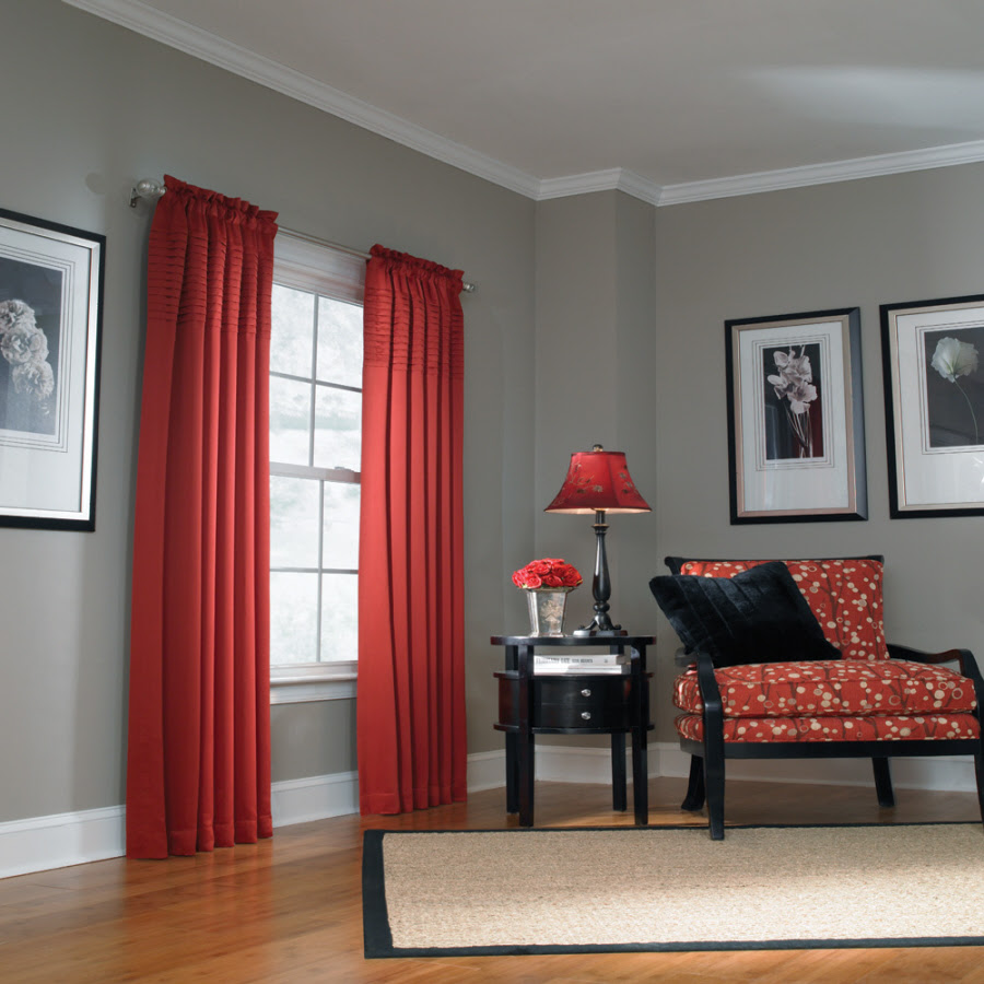 What Color Curtains Go With Red Walls