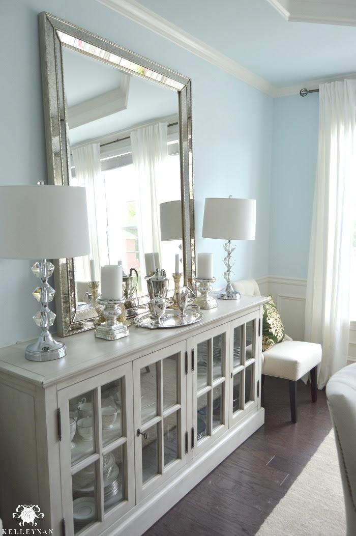 Dining Room Update | Vertical Vs. Horizontal Buffet Mirror