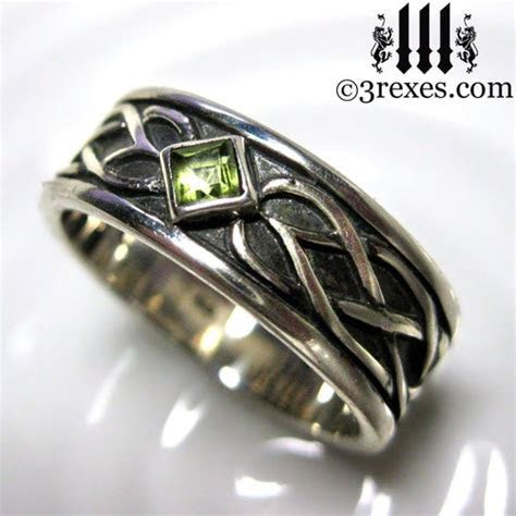 Celtic Knot Silver Soul Ring   .925 Sterling Silver