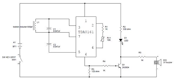 Metal detector circuit circuit diagram of metal detector ccuart Choice Image