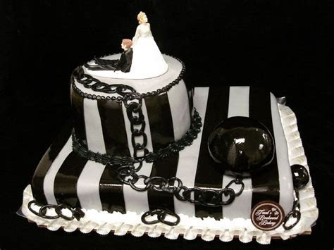 ball and chain cake   Ball and Chain Groom's Cake