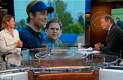 Homem de família: A estrela Moneyball também falou sobre sua ninhada de seis durante a entrevista com Charlie Rose