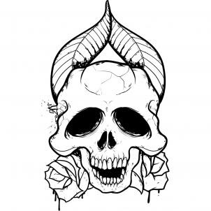 Pix For Easy Drawings Of Skulls And Roses Clip Art Library