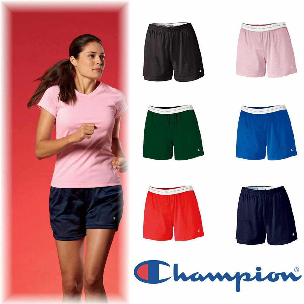 champion womens size s2xl roll down tagless mesh gym