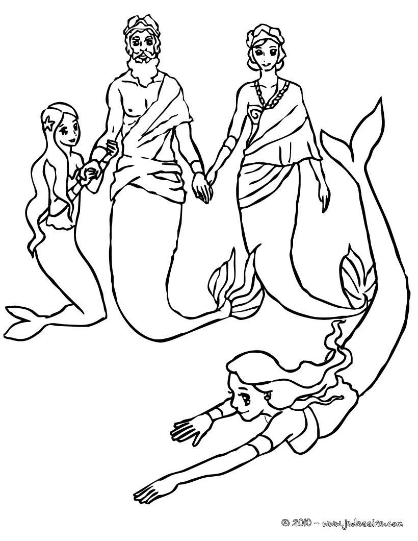 mako mermaids kleurplaat
