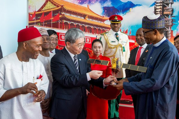 President Buhari today visited the China Aerospace Science Technology Corporation Centre in Beijing