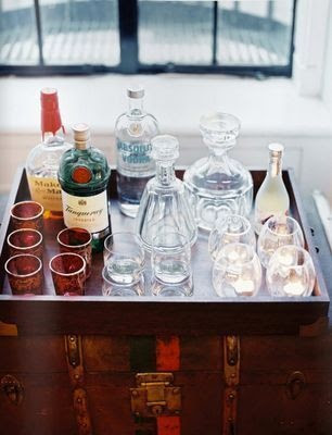 This vintage glassware would be fantastic atop the Caroline Chest.  Not only does it make it look stylish but makes for a very functional bar and entertaining space too #laylagrayce #gabbydecor