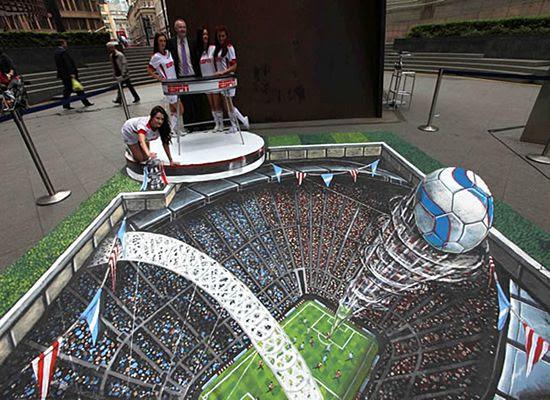 Pinturas 3d (campo de futebol)