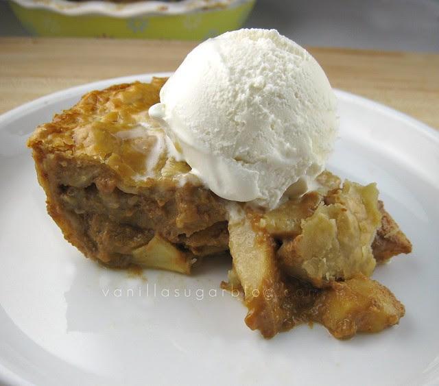 salty apple-caramel pie