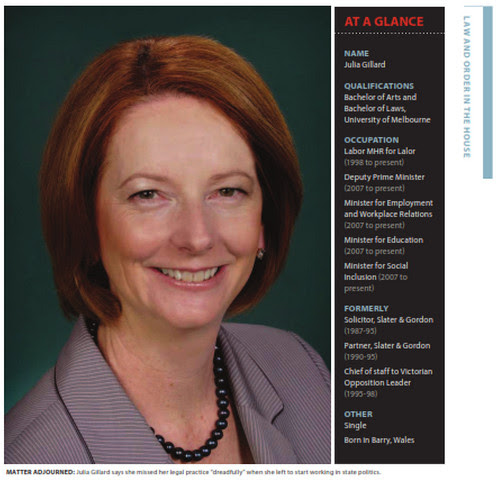 Gillard law journal before ravages of age