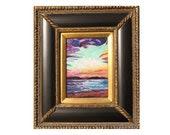 ORIGINAL OIL PAINTING 5x7 St. Thomas Sapphire Beach Caribbean Island Art