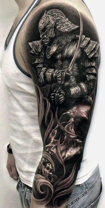 Idéias de tatuagem de manga de guerreiro