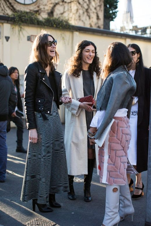 MILAN FASHION WEEK STREET STYLE CAT EYE SUNGLASSES LEATHER MOTO JACKET MISSONI PRINT MAXI SKIRT CLUTCH BAG CURLY HAIR HALF UP LONG WHITE COAT METALLIC SILVER PLEATED SKIRT KNEE HIGH LEATHER BOOTS MILAN FASHION WEEK STREET STYLE ITALIAN DESIGNERS FASHION CONSULTANT VIA SANDRA SEMBURG A LOVE IS BLIND 3 photo LEFASHIONBLOGSTYLISHSISTERSGIORGIAANDGIULIATORDINI3.jpg