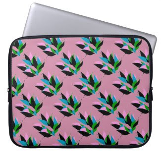 Abstract Flora Design on Laptop Sleeve