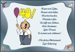 Geburtstagswünsche Zum 40 Lustig