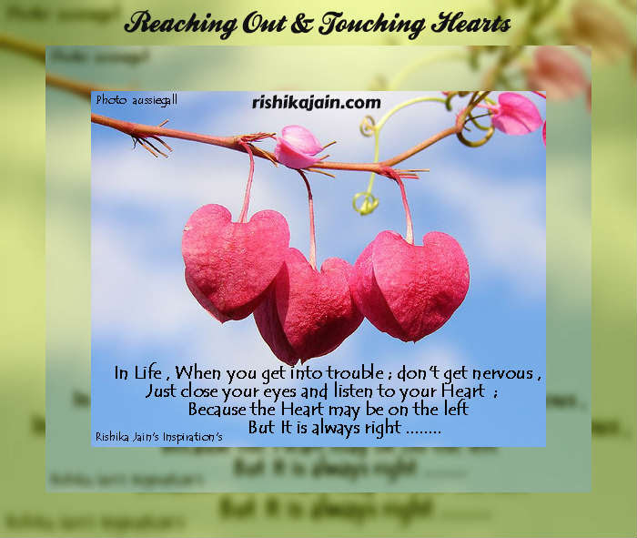Heart Quotes Listen To Your Heart A Beautiful Thought