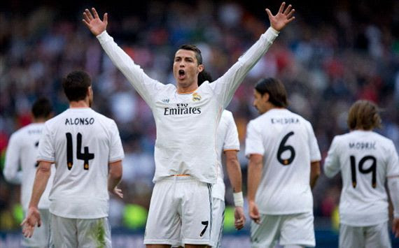 Cristiano Ronaldo Real Madrid Real Sociedad La Liga 11092013