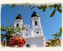 Bencés Apátság barokk temploma Tihany