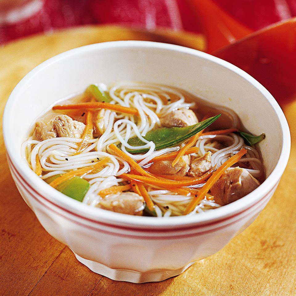 Ginger-Chicken Noodle Soup Recipe - EatingWell