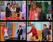 Melhor na Tv 2015/575 - Vanessa Oliveira sexy com uma saia curta e tshirt justa
