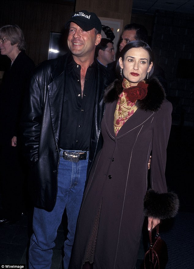 Good-looking folks: Their parents are Demi Moore, 55, and Willis. The couple were wed from 1987 until 2000. Seen in 1997