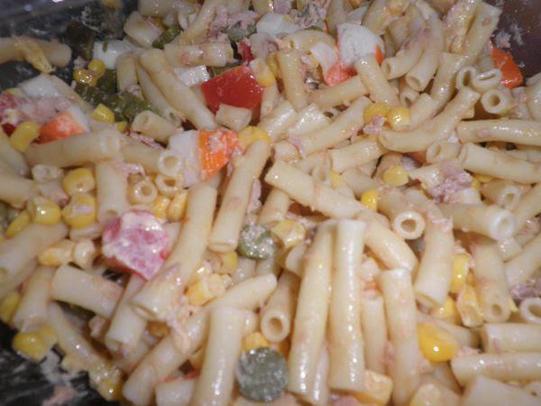 Salade De Pates Au Poulet Mayonnaise