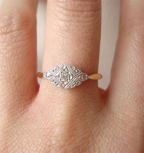 Antique Engagement Rings Etsy   Wedding and Bridal Inspiration