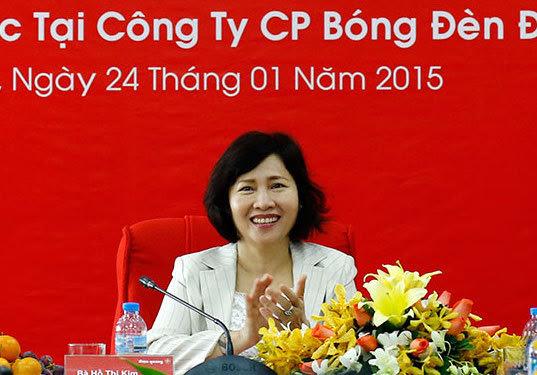 Thứ trưởng Hồ Thị Kim Thoa, bộ công thương, Bóng đèn Điện Quang, cổ phần hóa, Bộ Tài chính, tài sản quan chức
