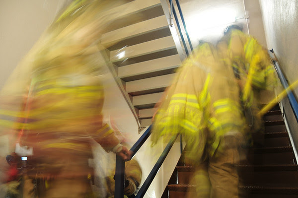 Metro firefighters climb our stairs each year to commemorate and honor those who died on September 11, 2001.