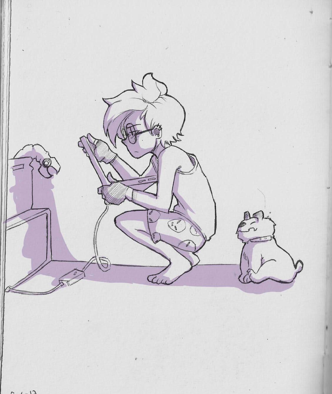 """:l me dio por dibujar a Peridot ,o lo que yo me imagino de como seria """"hamana"""" ,no se, la verdad el personaje no tiene mucho que ver con la personalidad del original ,y también tiene muchoooo de lo..."""