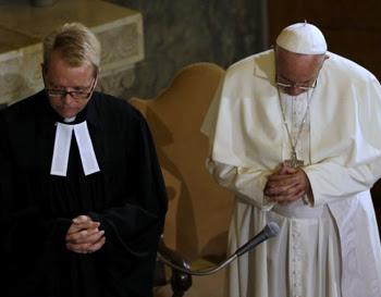 Francis and Lutheran praying