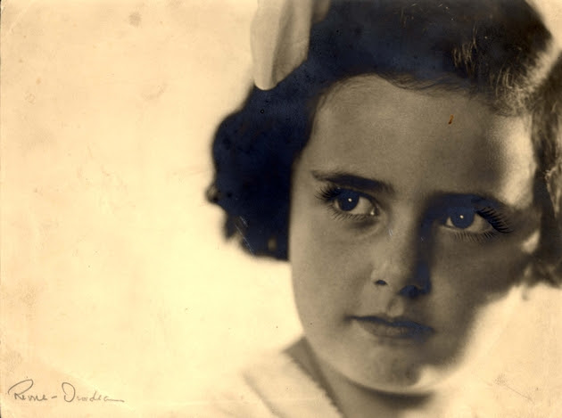 Eva as a small child