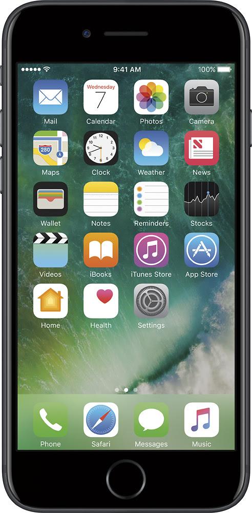 Apple - Geek Squad Refurbished Iphone 7 32gb - Black (at & t)