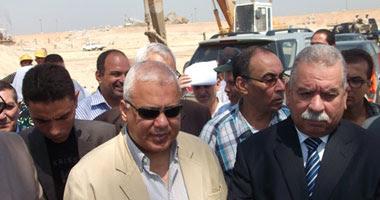 جانب من جولة وزير الرى بمحافظة أسيوط