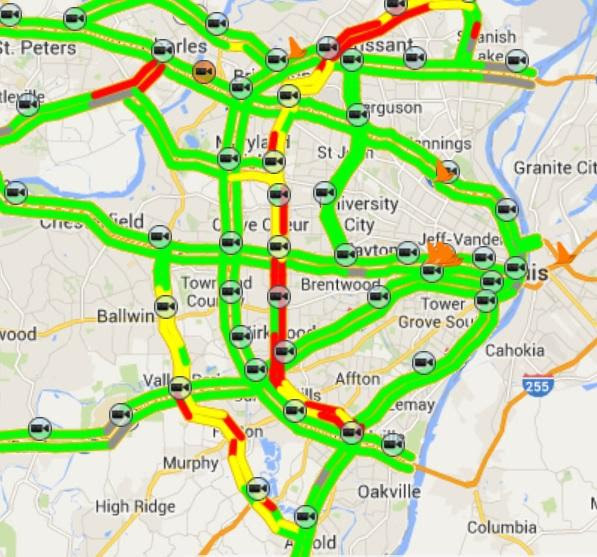 St Louis Traffic Map ~ CINEMERGENTE