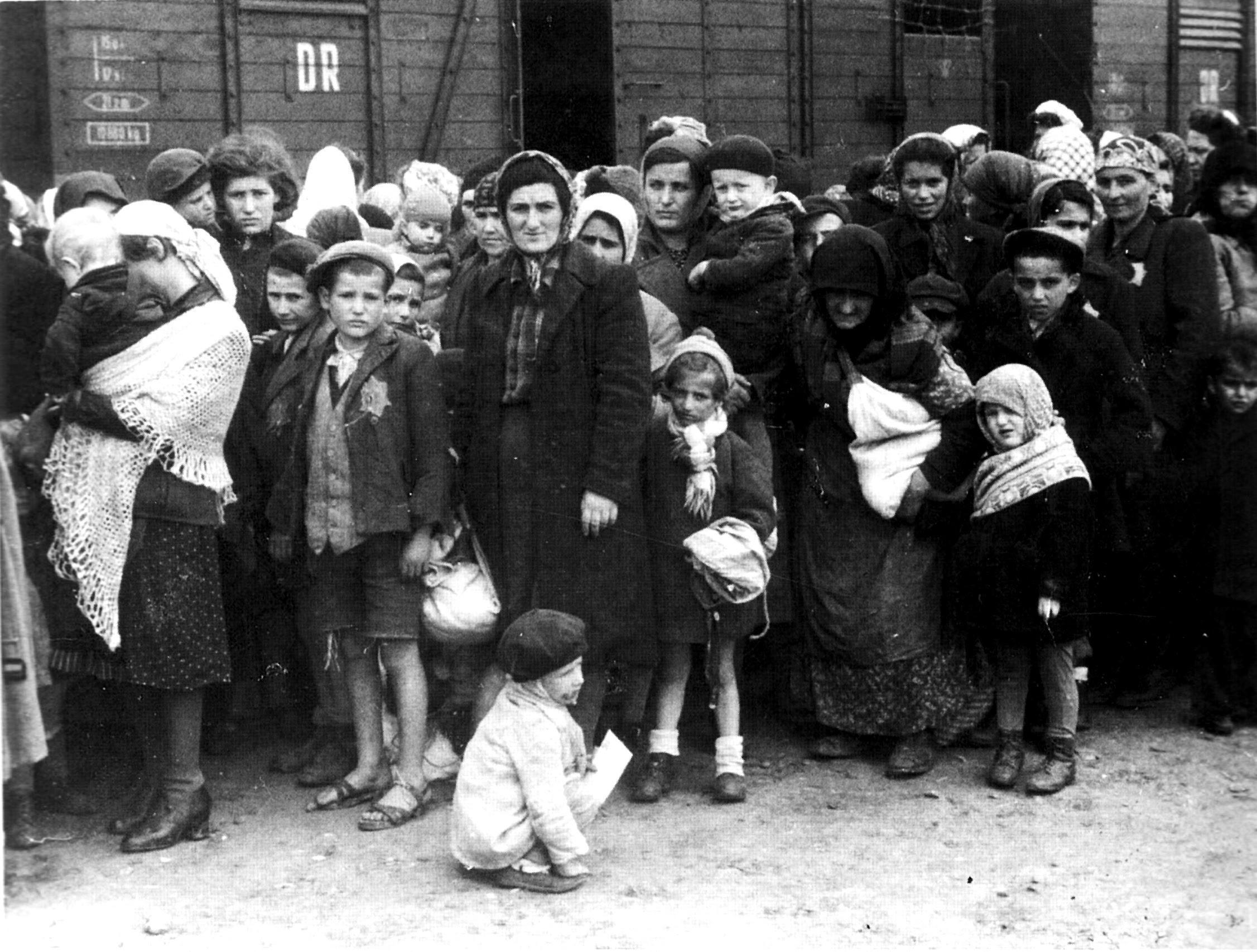 File:Bundesarchiv Bild 183-N0827-318, KZ Auschwitz, Ankunft ungarischer Juden.jpg