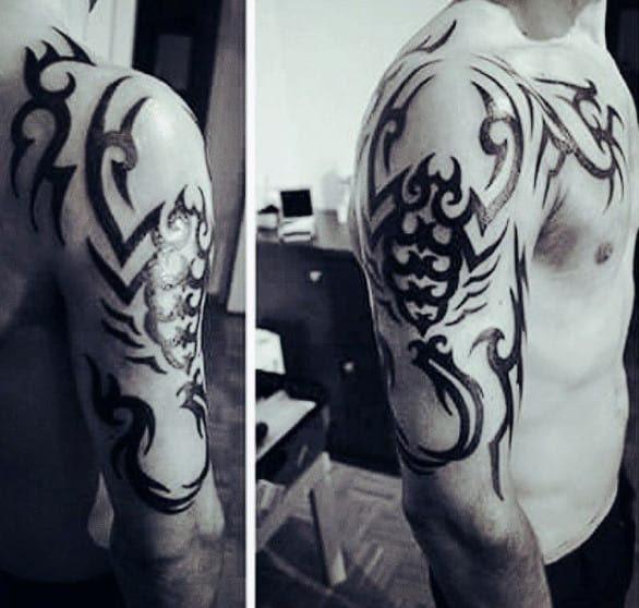 70 Scorpio Tattoo Designs For Men Astrological Sign Ideas