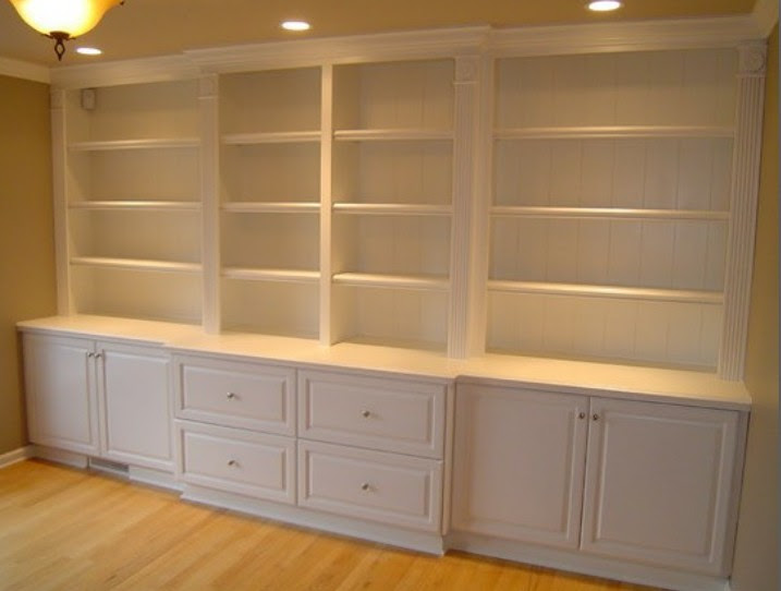parete libreria legno laccato