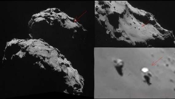 ovni superficie cometa 67p Descubren un OVNI sobre la superficie del cometa 67P