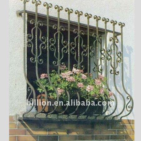 Decoration Wrought Iron Window Grill Iron Window Guard Window ...