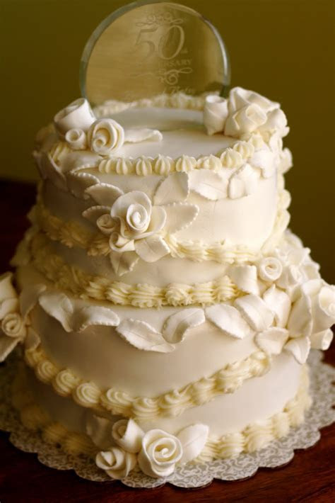 Pin 50th Wedding Anniversary Cake Ideas Cake on Pinterest