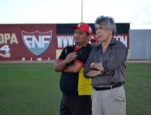 Marconi Barretto e Higor César - Globo FC (Foto: Jocaff Souza/GloboEsporte.com)
